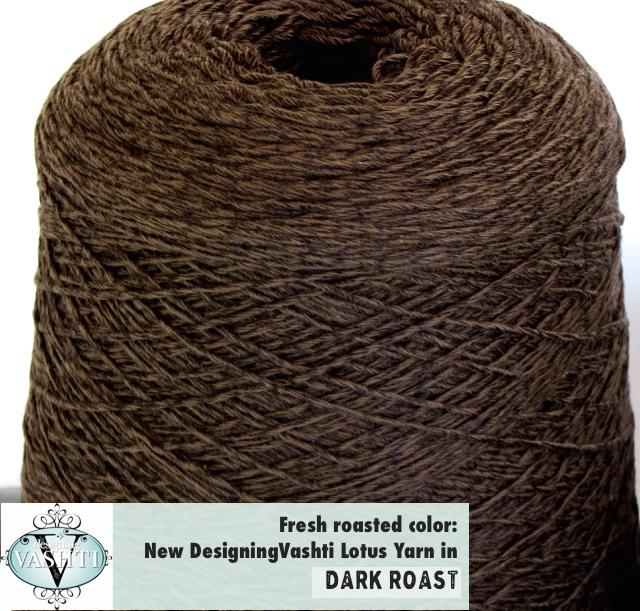 New Lotus Yarn int he shop! Dark Roast (brown)