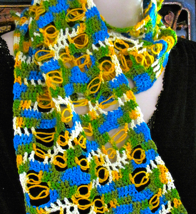 Bonefish Scarf (clicking takes you to its project page in Ravelry.)
