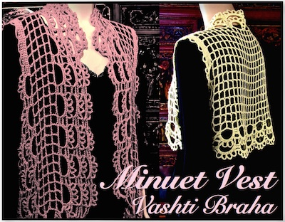NEW Minuet Vest pattern PDF for sizes XXSmall to X-Large.