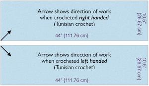 Showing direction of Tunisian work in schematics