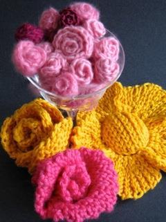 Slip Stitch Flower Bouquet in Merinos, Cashmeres, Cottons