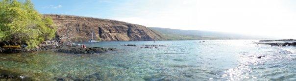 Kealakekua Bay from Kaawaloa