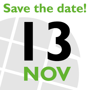 Save the date: 13 Nov 2019
