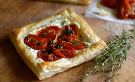 tomato and ricotta tartlets