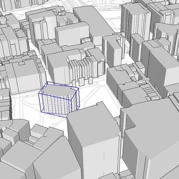 3D Massing model from Joanna James