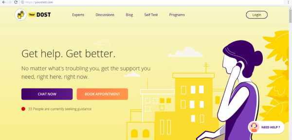 YourDOST Homepage
