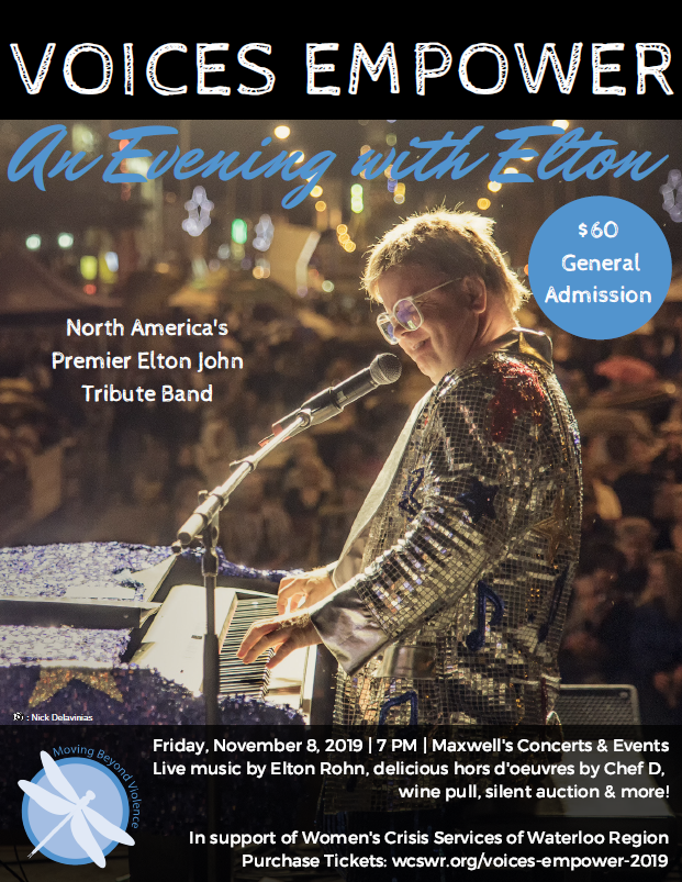 Voices Empower: An evening with Elton poster