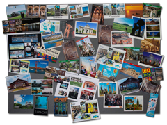 Montage of postcards from Fairtrade Towns