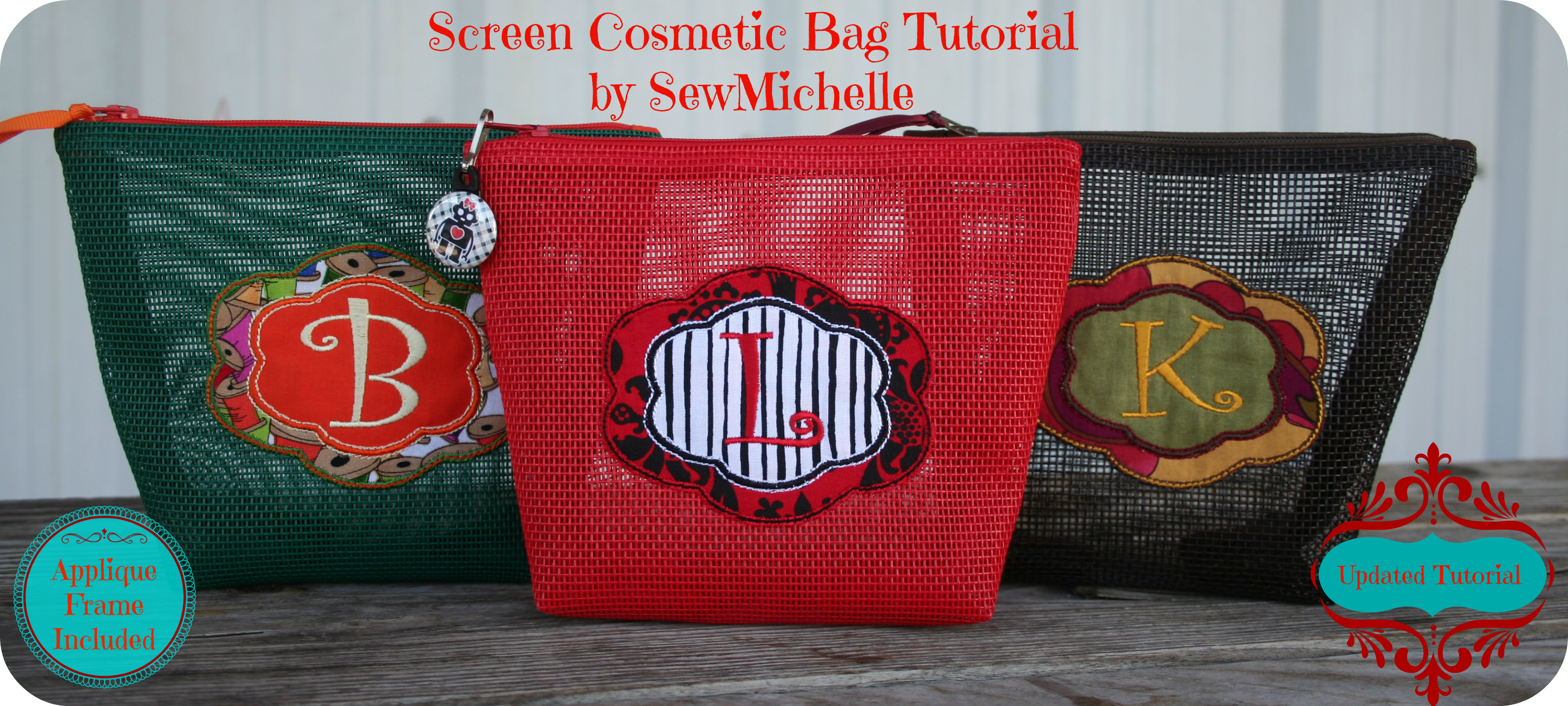Screen Cosmetic Bag Tutorial by SewMichelle
