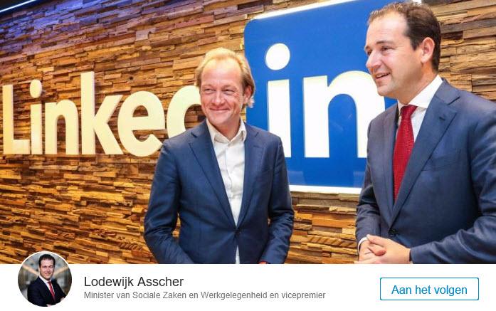 Asscher bij LinkedIn