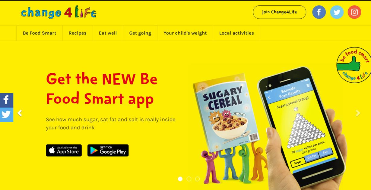 get the new be food smart app