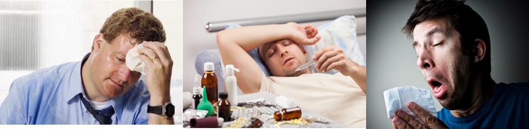 men with flu-like symptoms