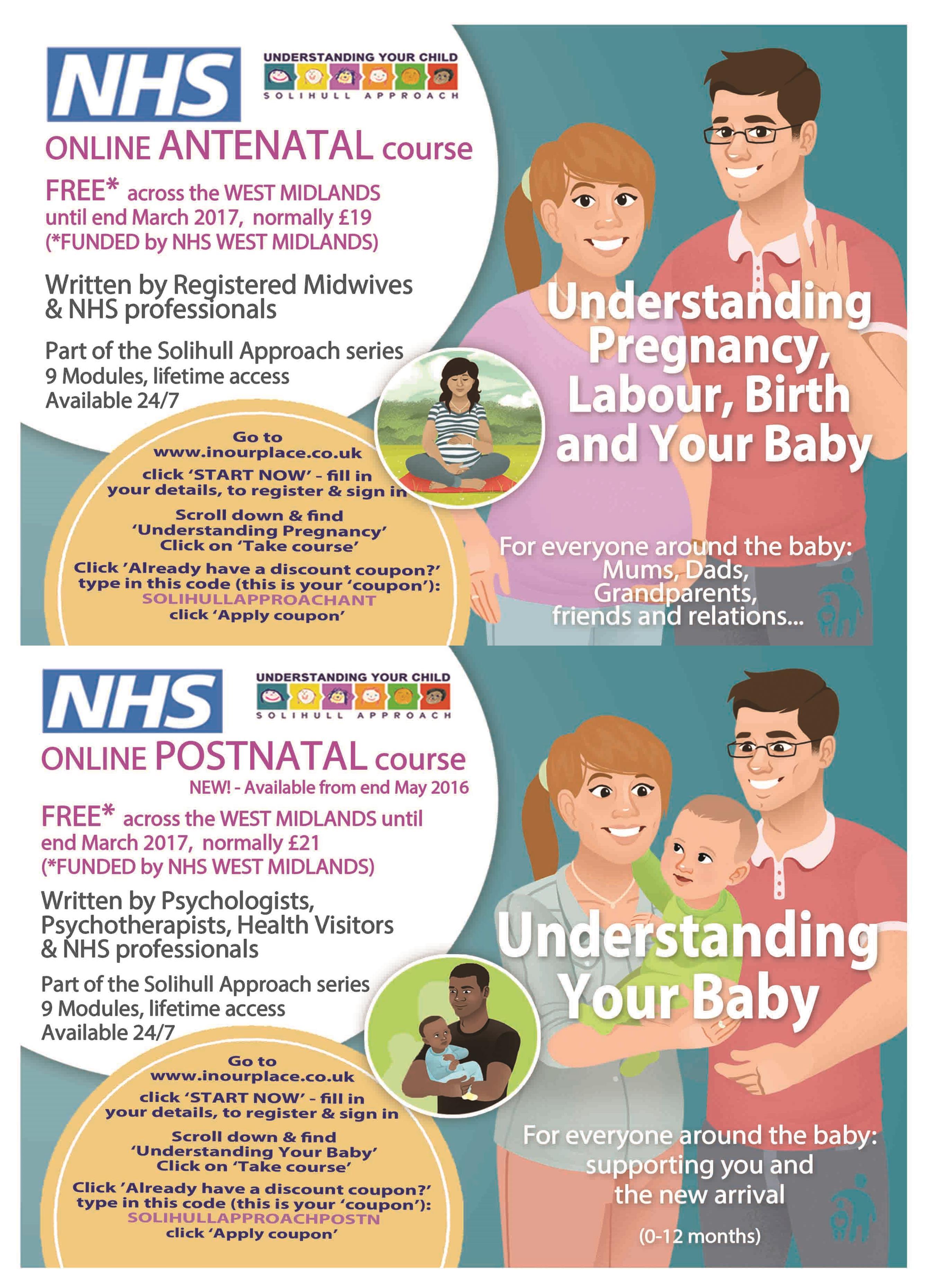 Online Antenatal and postnatal courses
