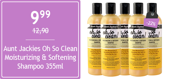 Aunt Jackies Oh So Clean Moisturizing & Softening Shampoo 355ml