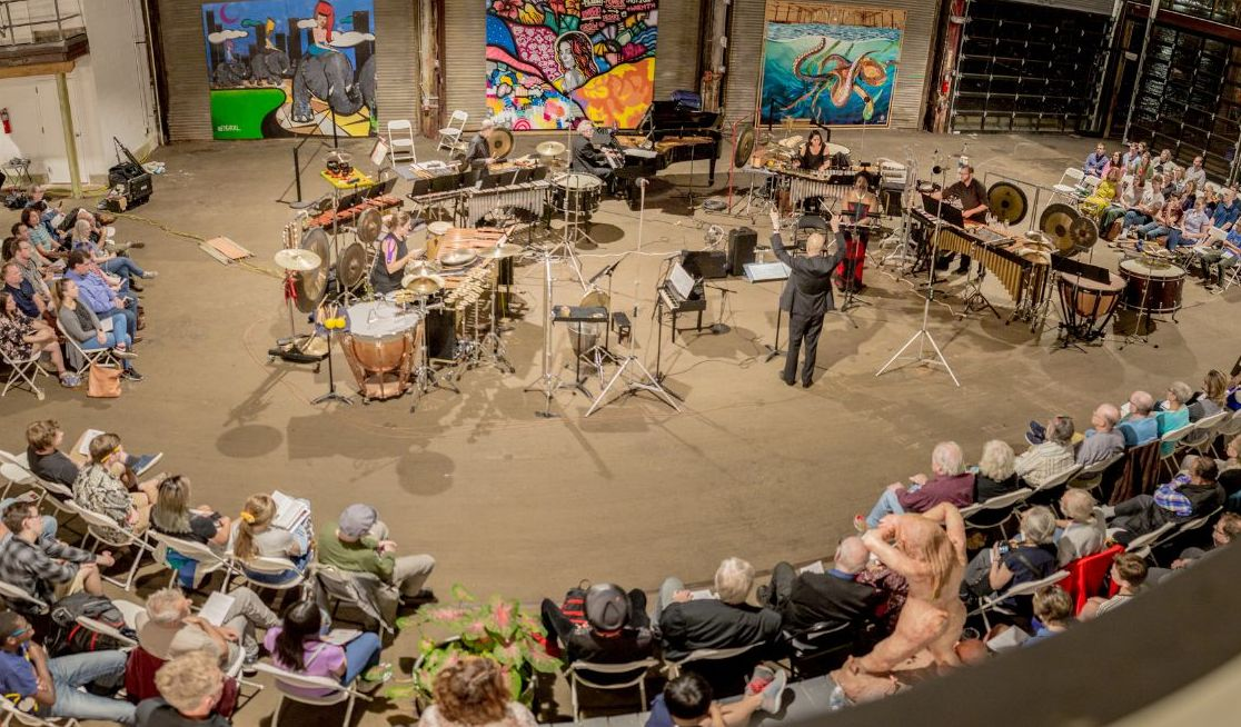 Orchestra 2001 performing The River of Life at Cherry Street Pier, photo by Bill DiCecca, 2019
