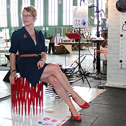 Nikki at the DMY Design show in Berlin in June