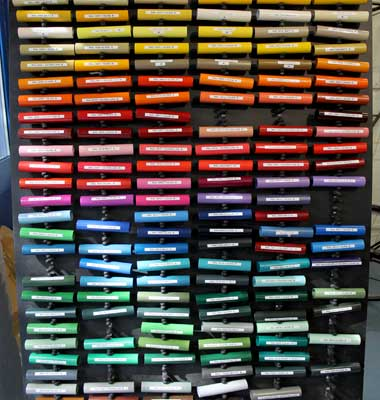 Colour samples for powder coating