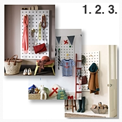 Three ways to use your Peg-it-all Storage panel