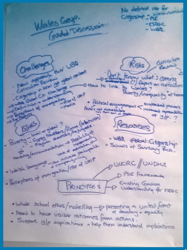 Wales' group - outcomes of guided discussions
