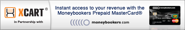 X-Cart in partnership with Moneybookers