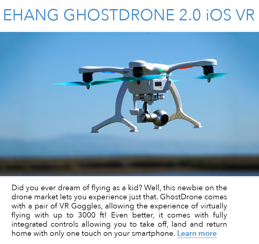 Discover Ehang Ghostdrone 2.0 VR