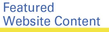 Featured Website Content