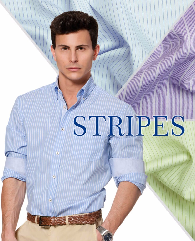 stripe custom shirts