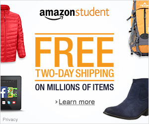 Students Get Free Shipping From Amazon