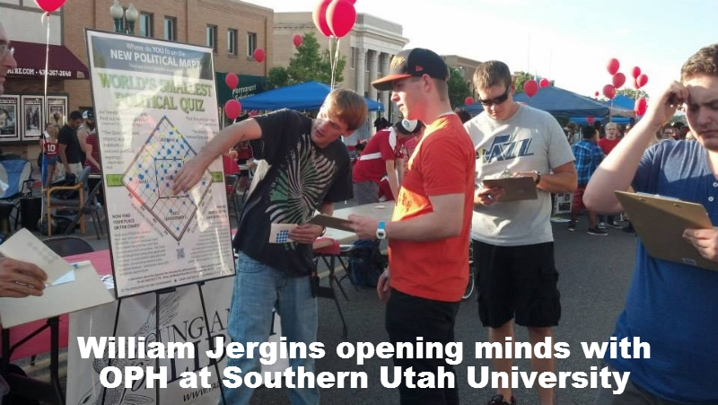 William Jergins opening minds with OPH at Southern Utah University