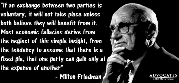 Milton Friedman on voluntary exchange