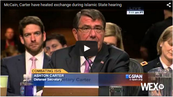 Click here to see the video with the Senate Armed Services Committee