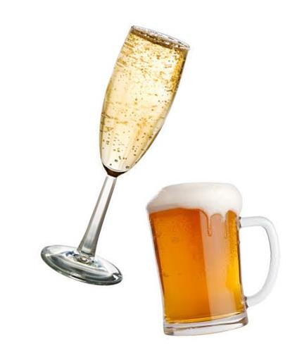 Champagne and Beer