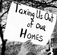 Tax Protest Sign