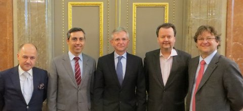 EBAN Executive Committee meets with EIB Vice-President Wilhelm Molterer