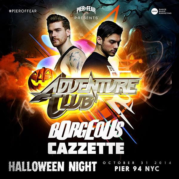 Halloween Night Friday October 31: Adventure Club with Borgeous at Pier 94 NYC