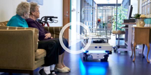 The robot bears the brunt at Care center Engparken