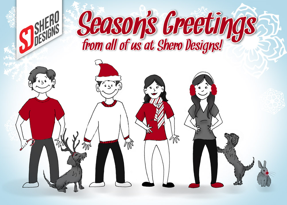 Season's Greetings from all of us at Shero Designs!