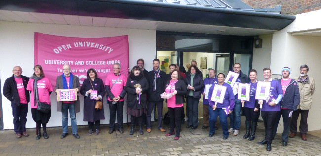 """OU UCU members at our Council """"not a rally"""" - 24 November 2015"""