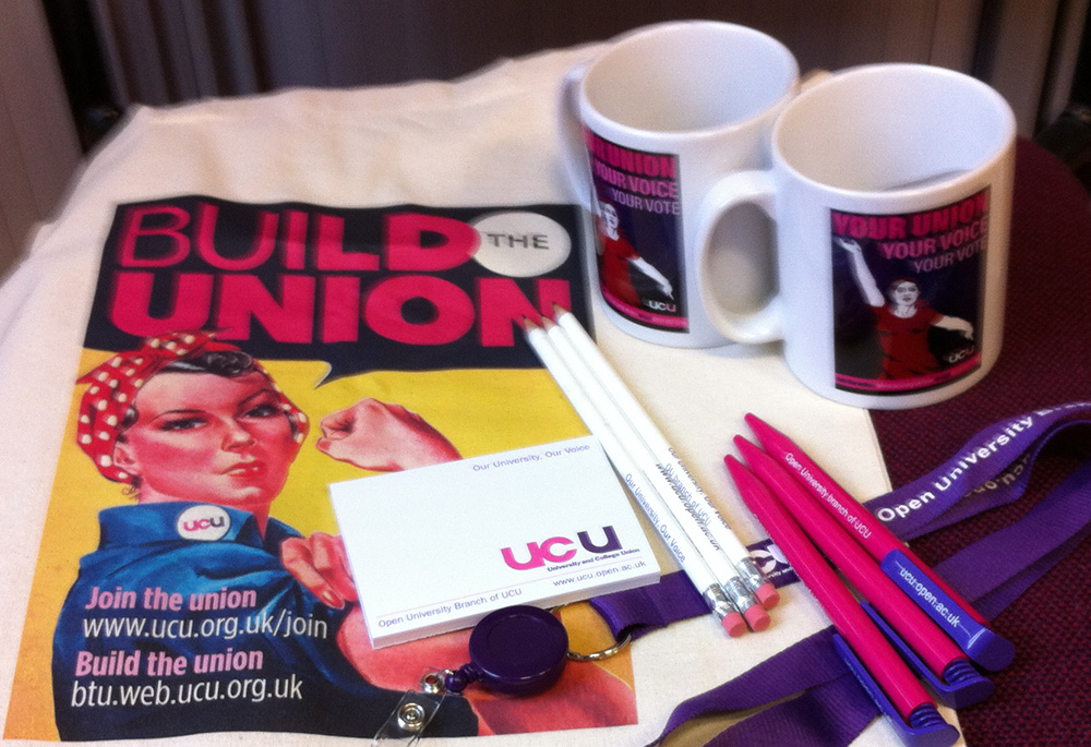OU branch of UCU - free items available to members