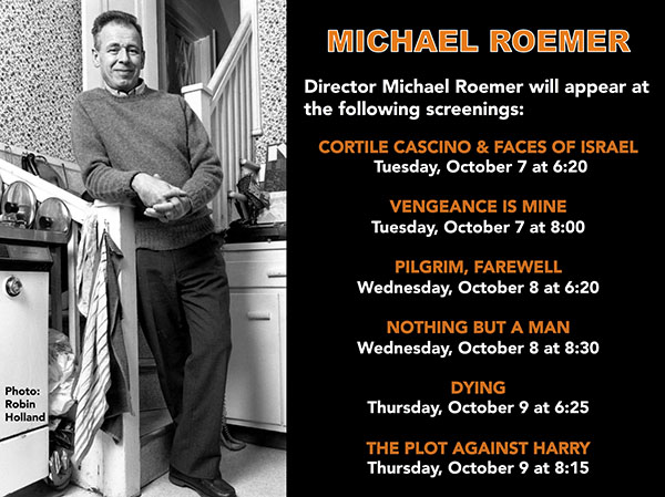Michael Roemer, John Lahr in person this week at Film Forum