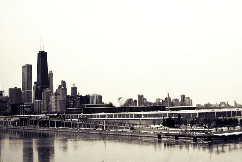 Chicago skyline circa 1970s
