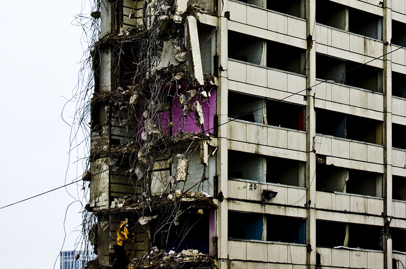 Cabrini Green highrise demolition