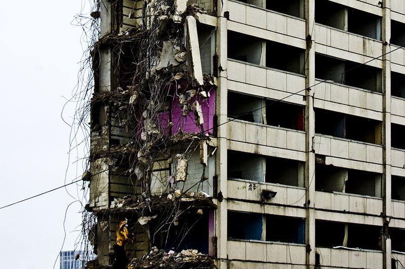 Cabrini Green highrise demolition