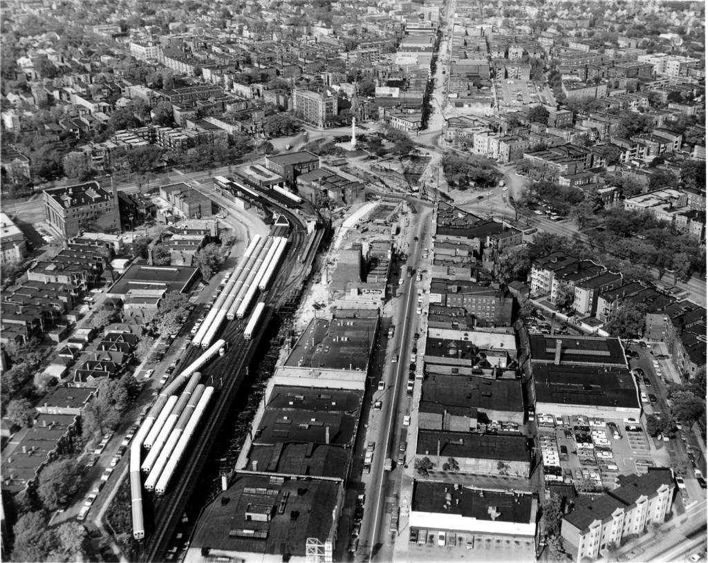 Logan Square CTA rail yard 1968