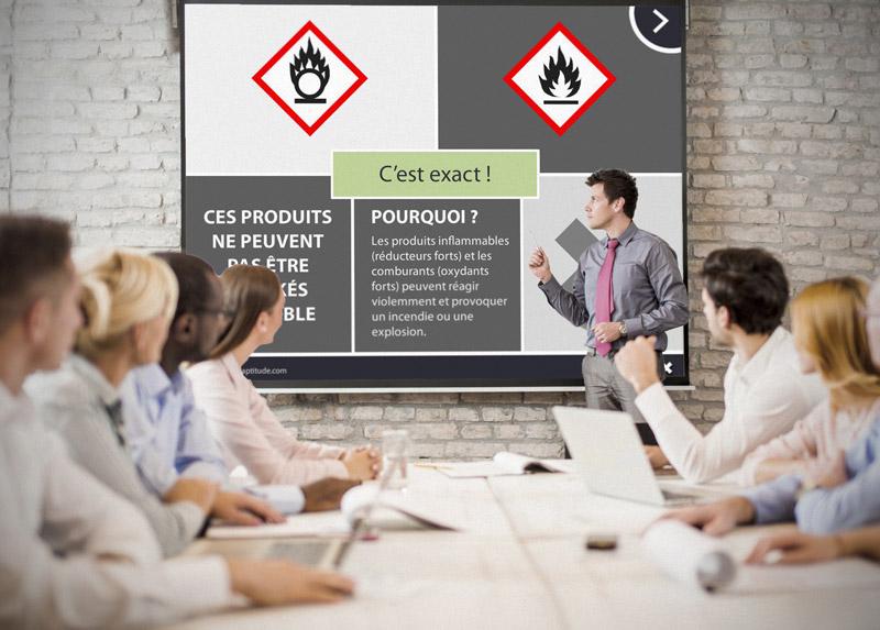 Utilisations multiples : auto-formation, formation en salle ou challenge entre membres d'une équipe