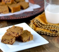 Sweet Potato Chocolate Chip Blondies