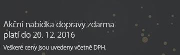 Akční nabídka dopravy zdarma platí do 20. 12. 2016