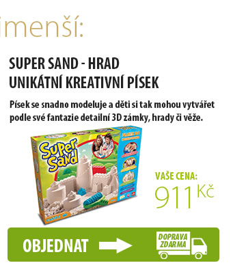 SUPER SAND - HRAD unikátní kreativní písek