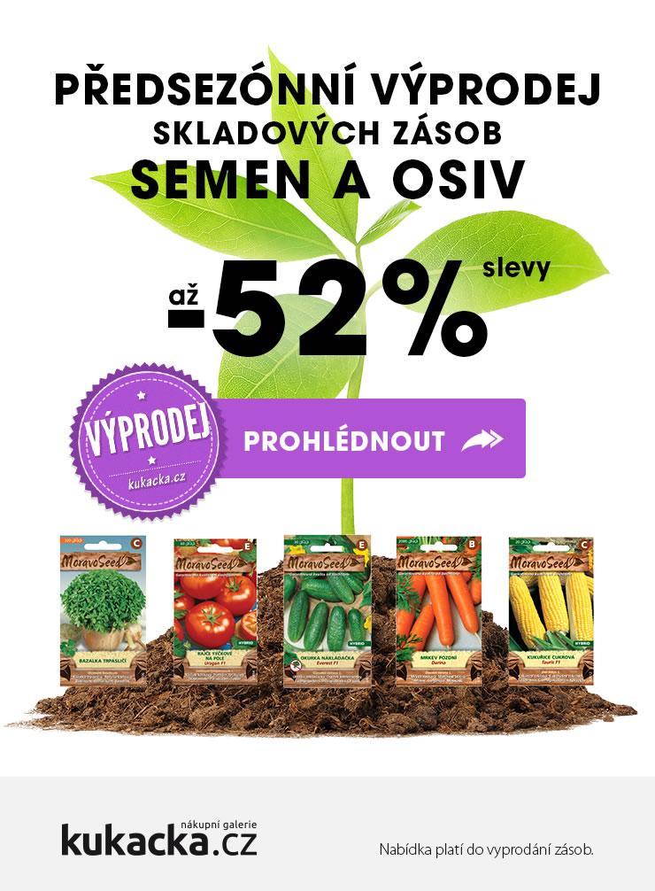 Předsezónní výprodej skladových zásob semen a osiv