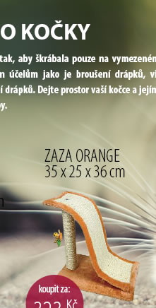 ŠKRÁBADLO ZAZA ORANGE